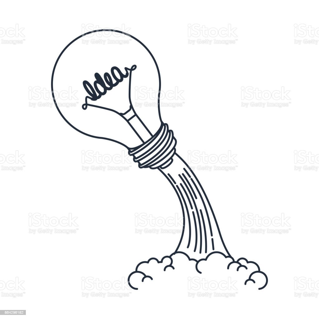 idea launcher  bulb isolated icon desig royalty-free idea launcher bulb isolated icon desig stock vector art & more images of backgrounds