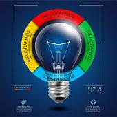 Idea Light Bulb in Infographic Diagram
