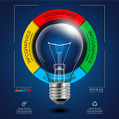Idea Light Bulb in Infographic Diagram
