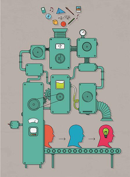 idea machine - machine stock illustrations, clip art, cartoons, & icons