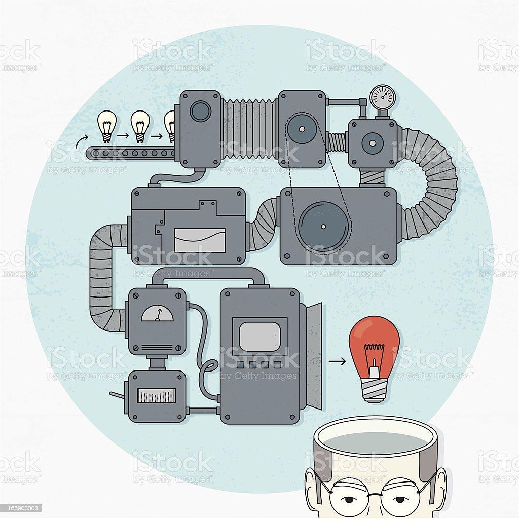 Idea cafetera - ilustración de arte vectorial