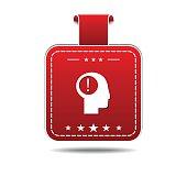 Idea Red Vector Icon Design