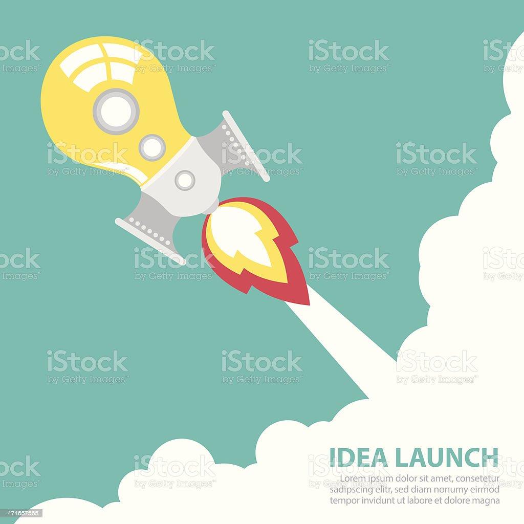 idea rocket launch royalty-free idea rocket launch stock vector art & more images of activity