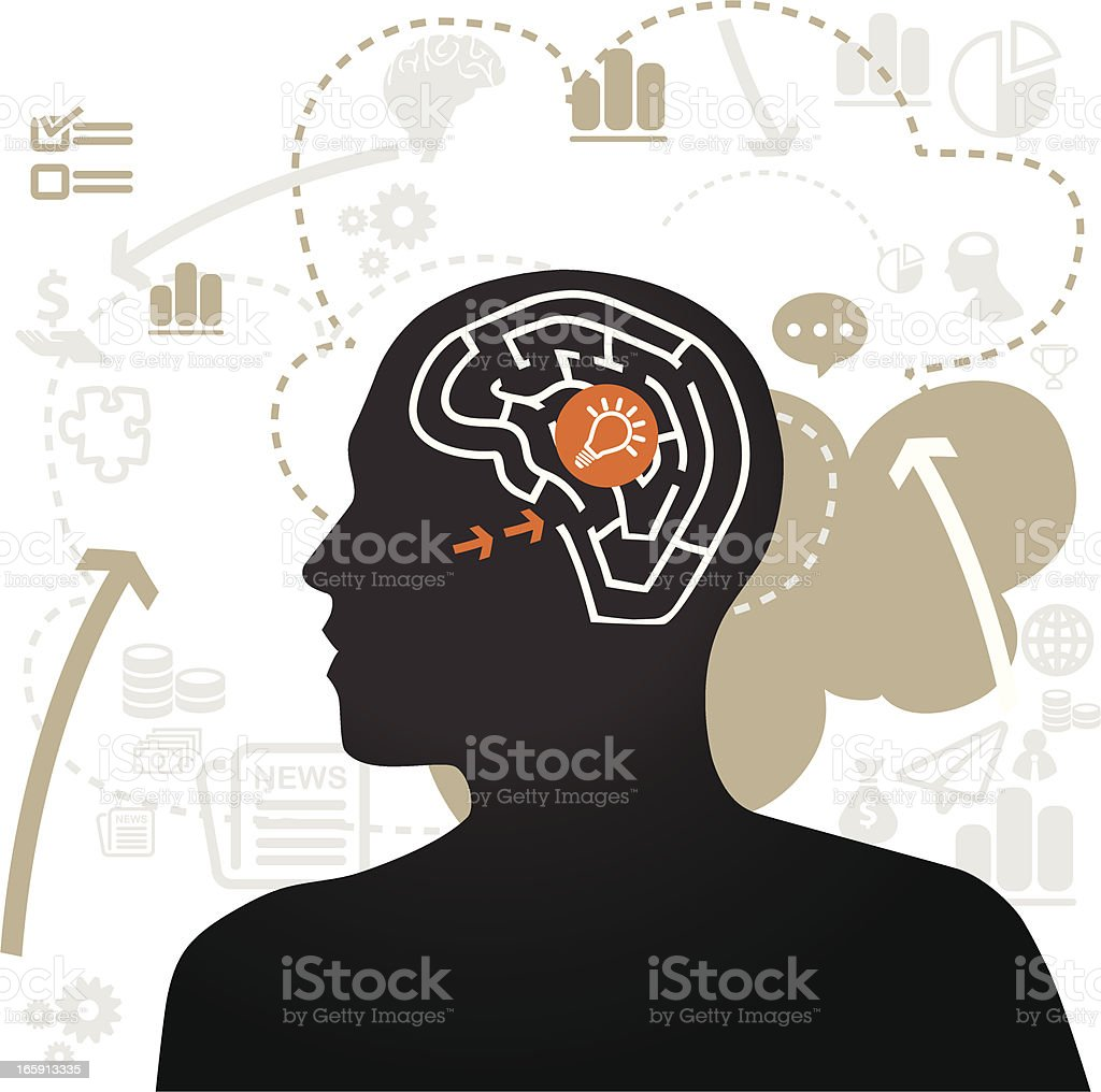 Idea Searching royalty-free idea searching stock vector art & more images of brainstorming