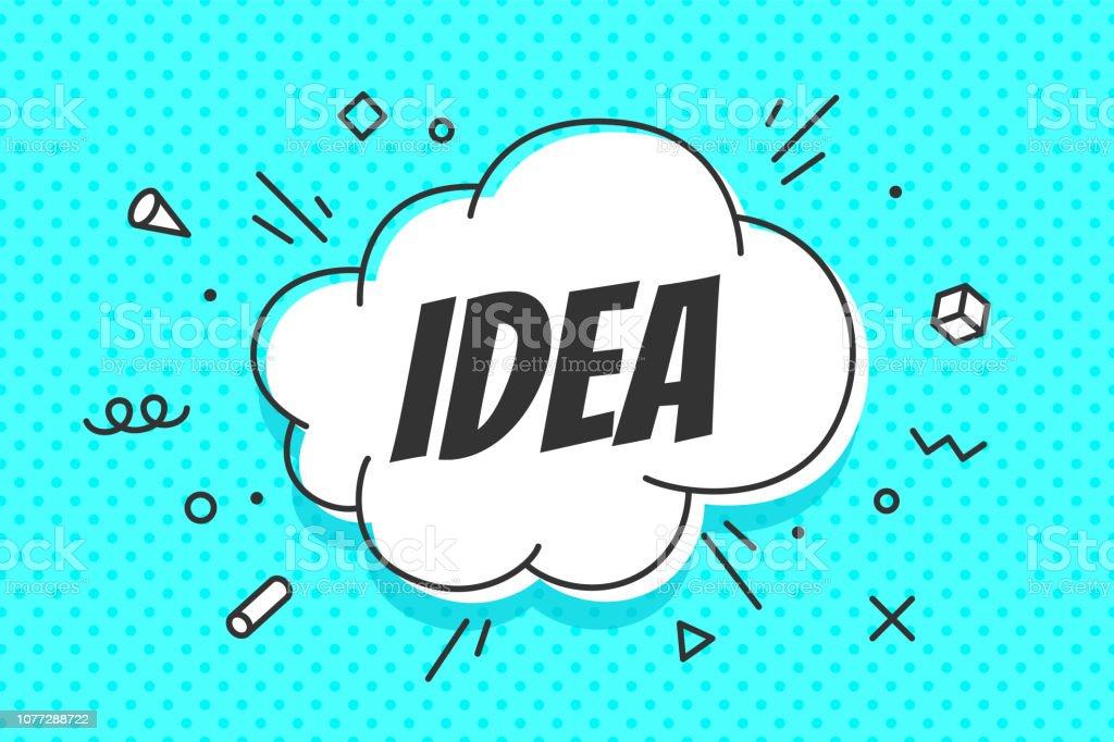 Idee, Sprechblase. Banner, Sprechblase, Poster und Aufkleber - Lizenzfrei Altertümlich Vektorgrafik