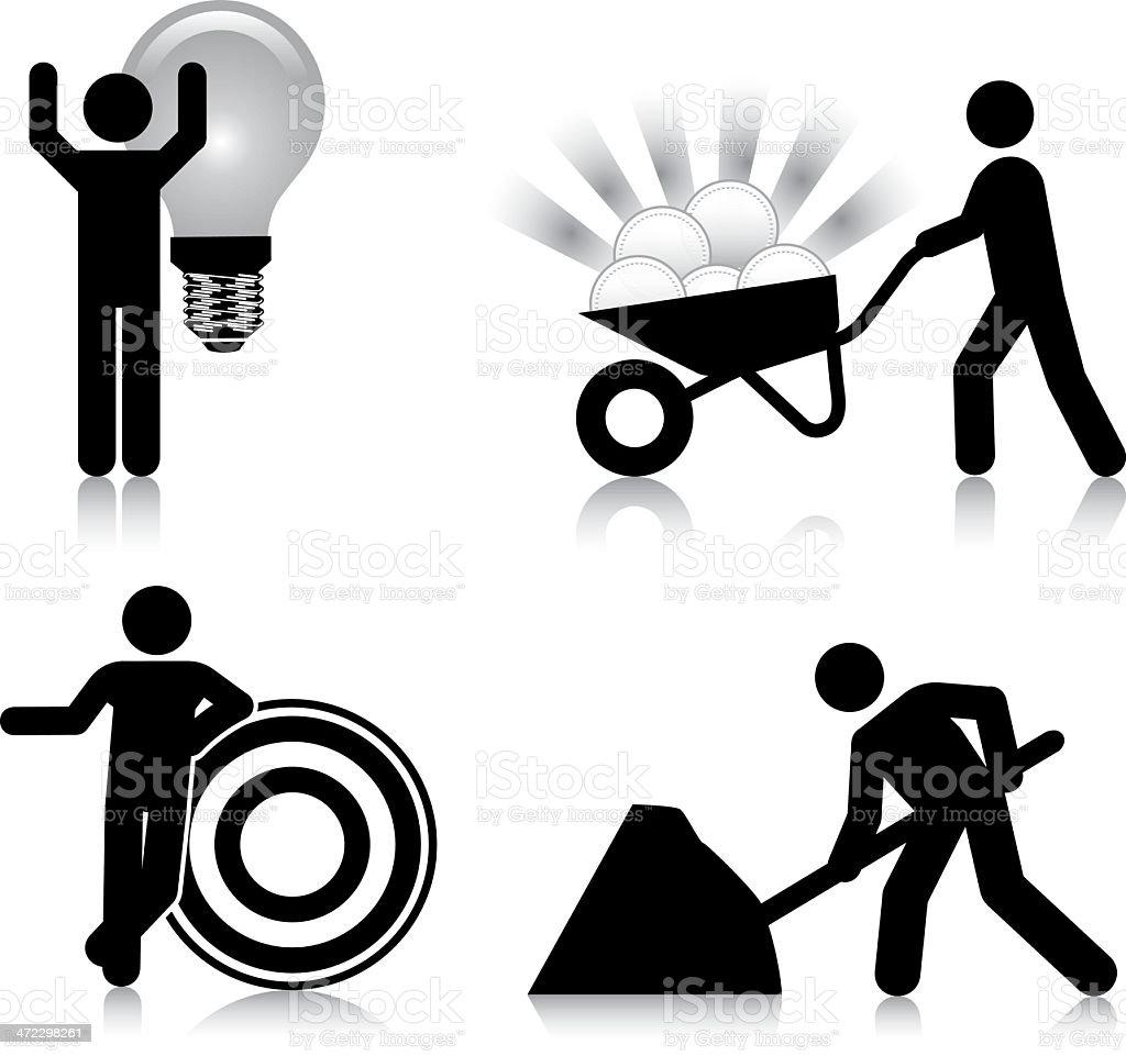 Idea, Target, Work, Reward royalty-free idea target work reward stock vector art & more images of accessibility