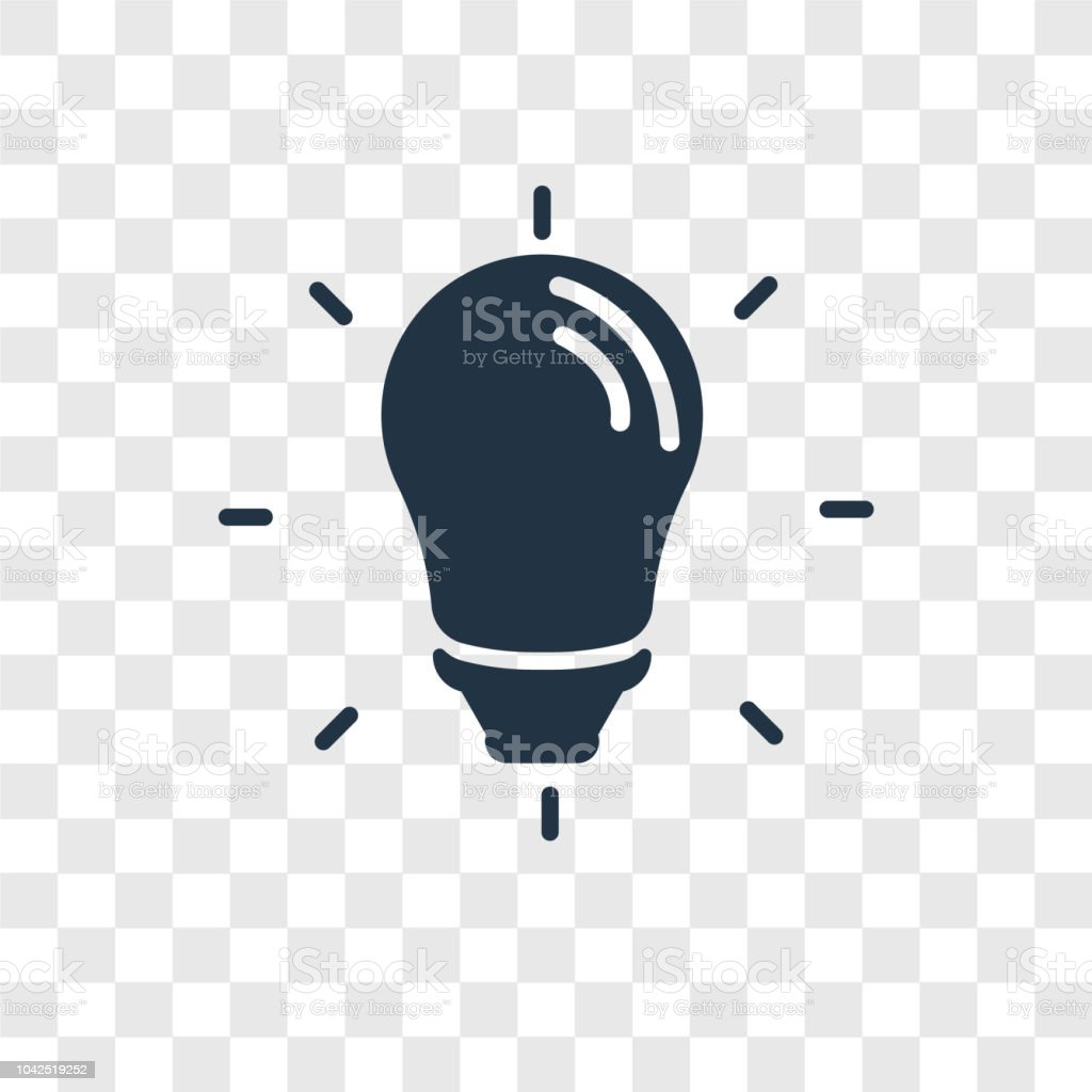 Idea Vector Icon Isolated On Transparent Background Transparency Logo Design Royalty Free