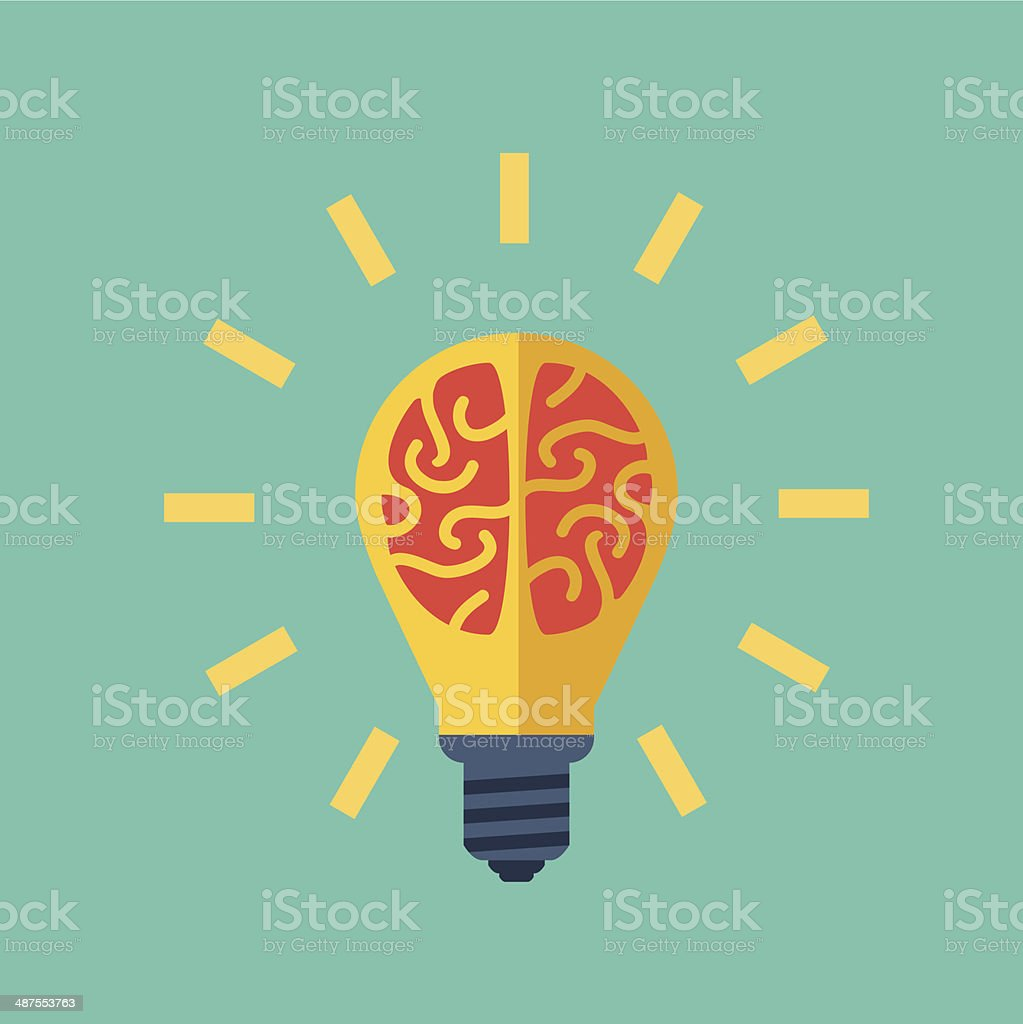 Idea vector art illustration