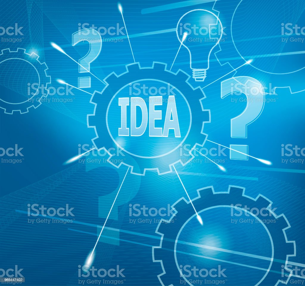 Idea royalty-free idea stock vector art & more images of blue