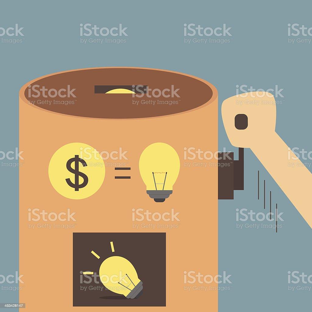 Idea vending machine royalty-free stock vector art