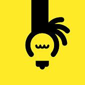 istock Idea with human hand 982329630