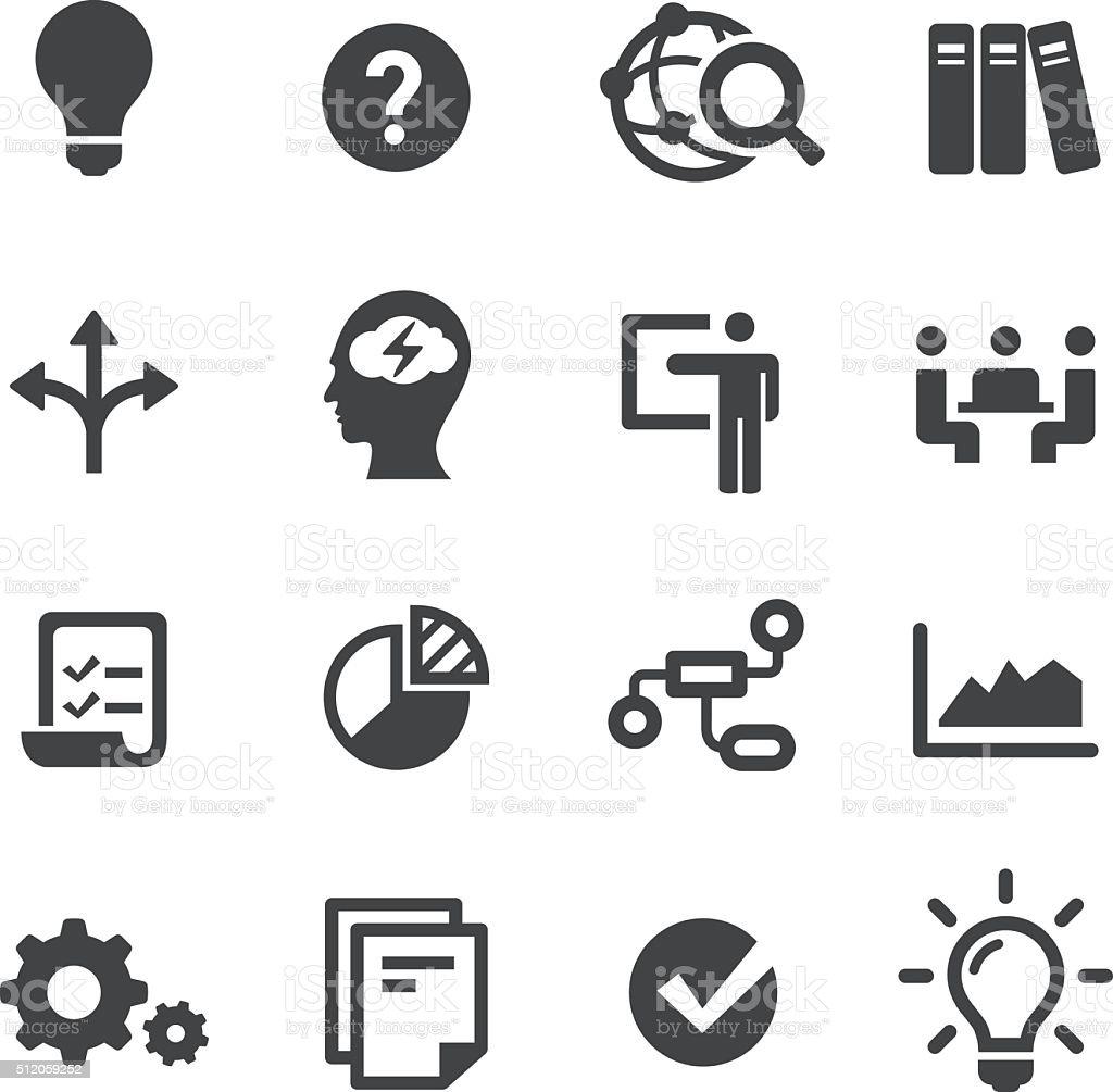 Idea flujo de trabajo iconos-Serie Acme - ilustración de arte vectorial