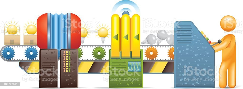 Ideas Factory royalty-free ideas factory stock vector art & more images of activity