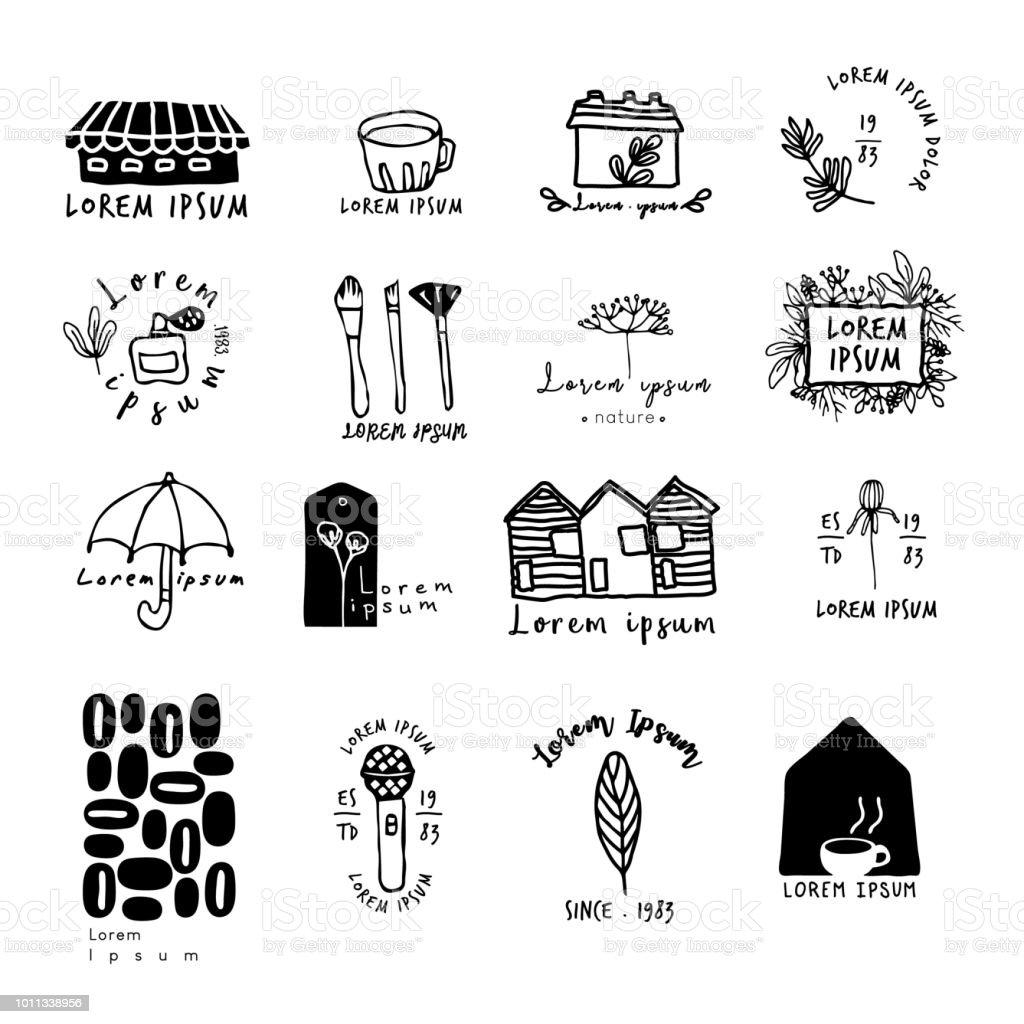 Ideas For Logo Design Doodle Drawingflat Designcoffe Shop Logo