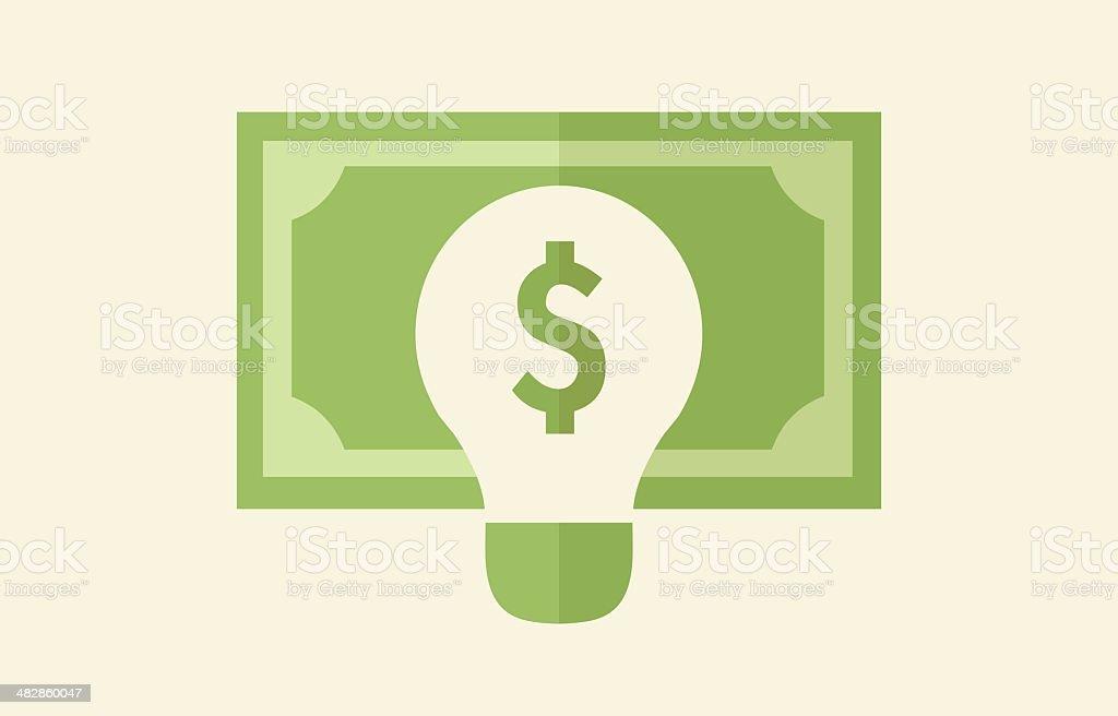 Ideas Making Money Concept vector art illustration