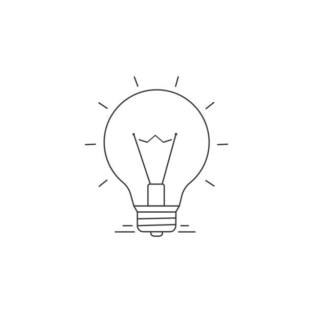 Ideen-Vektor-Line-Symbol – Vektorgrafik