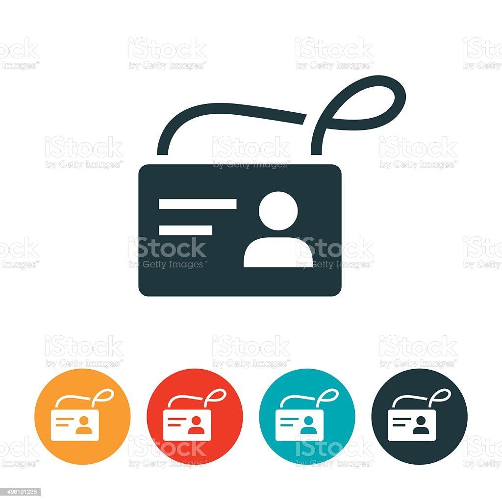 Identification Badge Icon vector art illustration