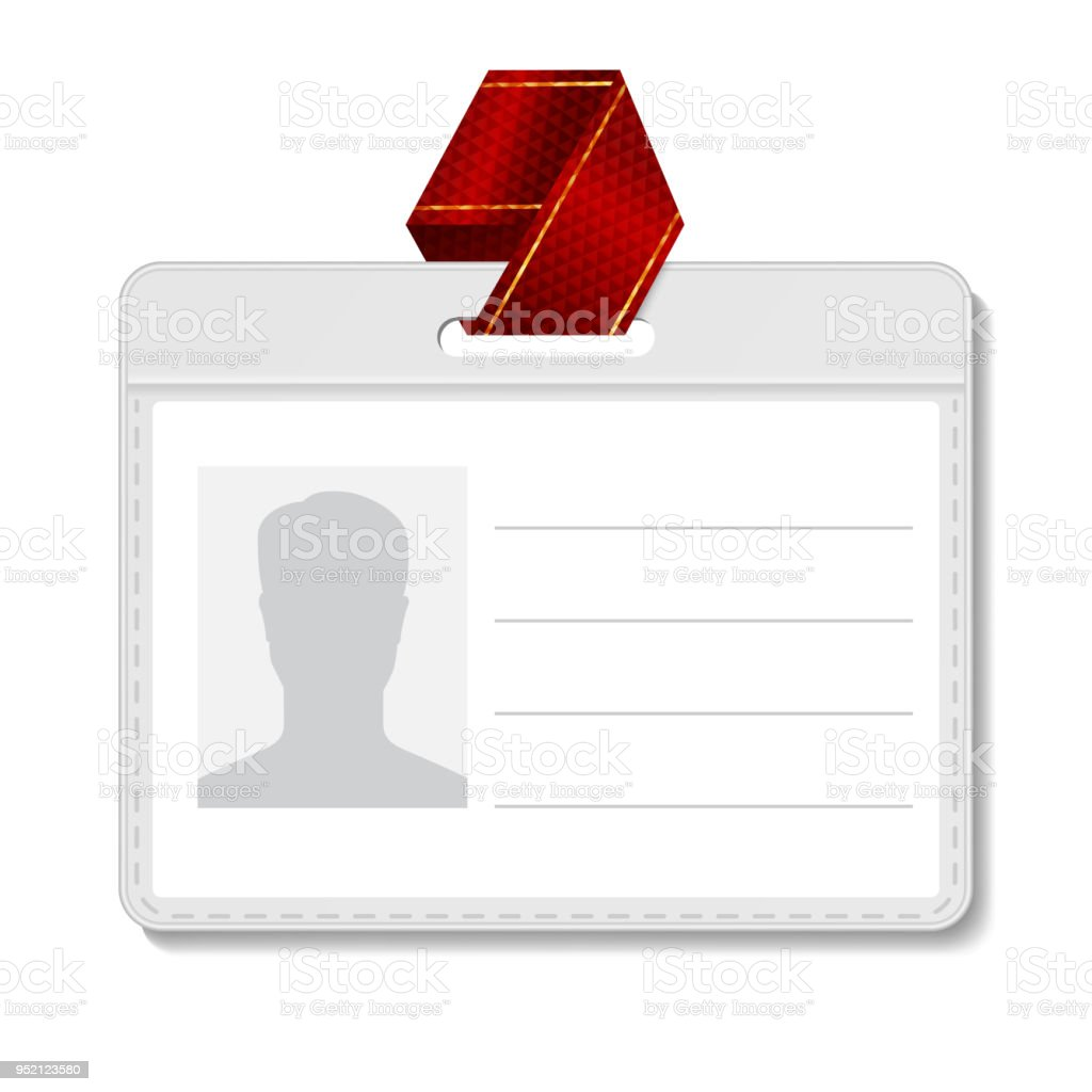 identification badge vector id card blank name template profile