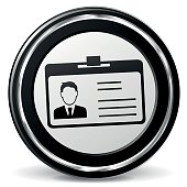 identification card black and gray icon
