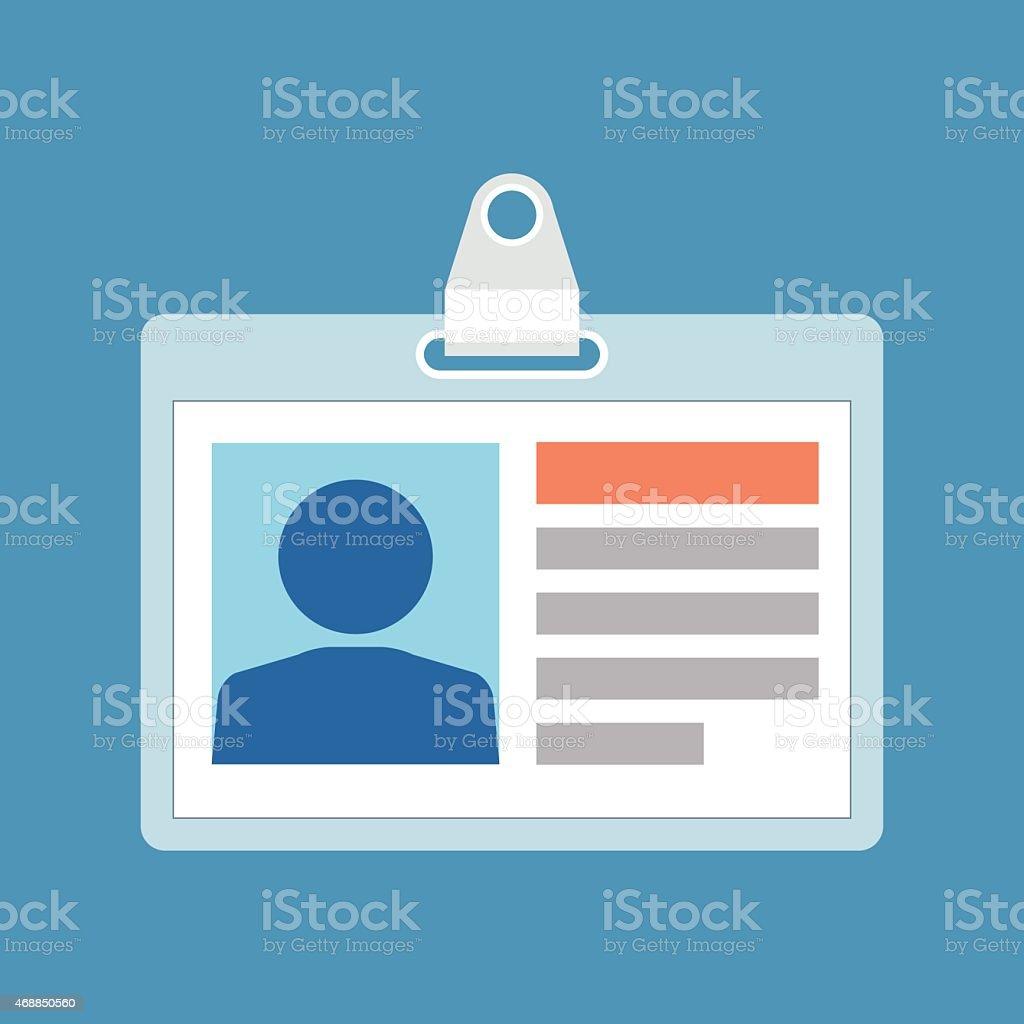 Identification card concept. Flat design. vector art illustration