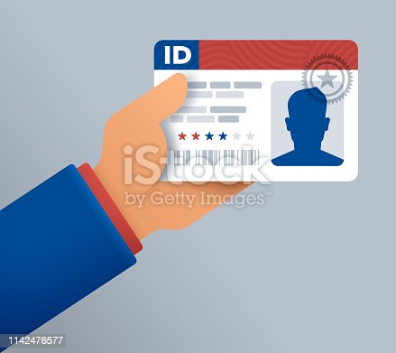 A person holding a driver license or identification card.