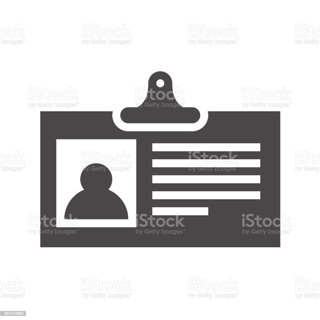 Identification Card Flat Vector Icon royalty-free identification card flat vector icon stock vector art & more images of accessibility