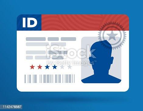 istock Identification ID Card 1142476587