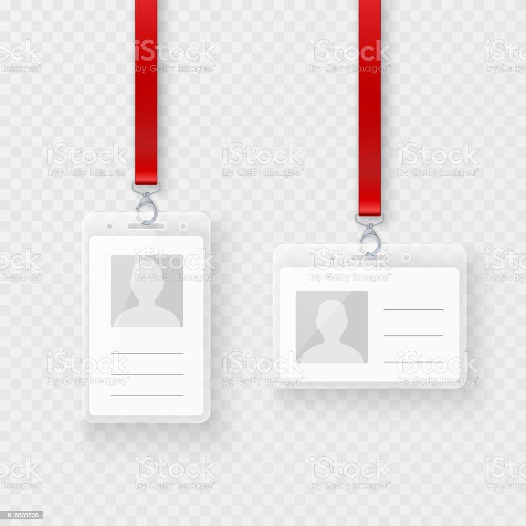 Ilustración de Identificación Personal En Blanco Plástico Tarjetas ...