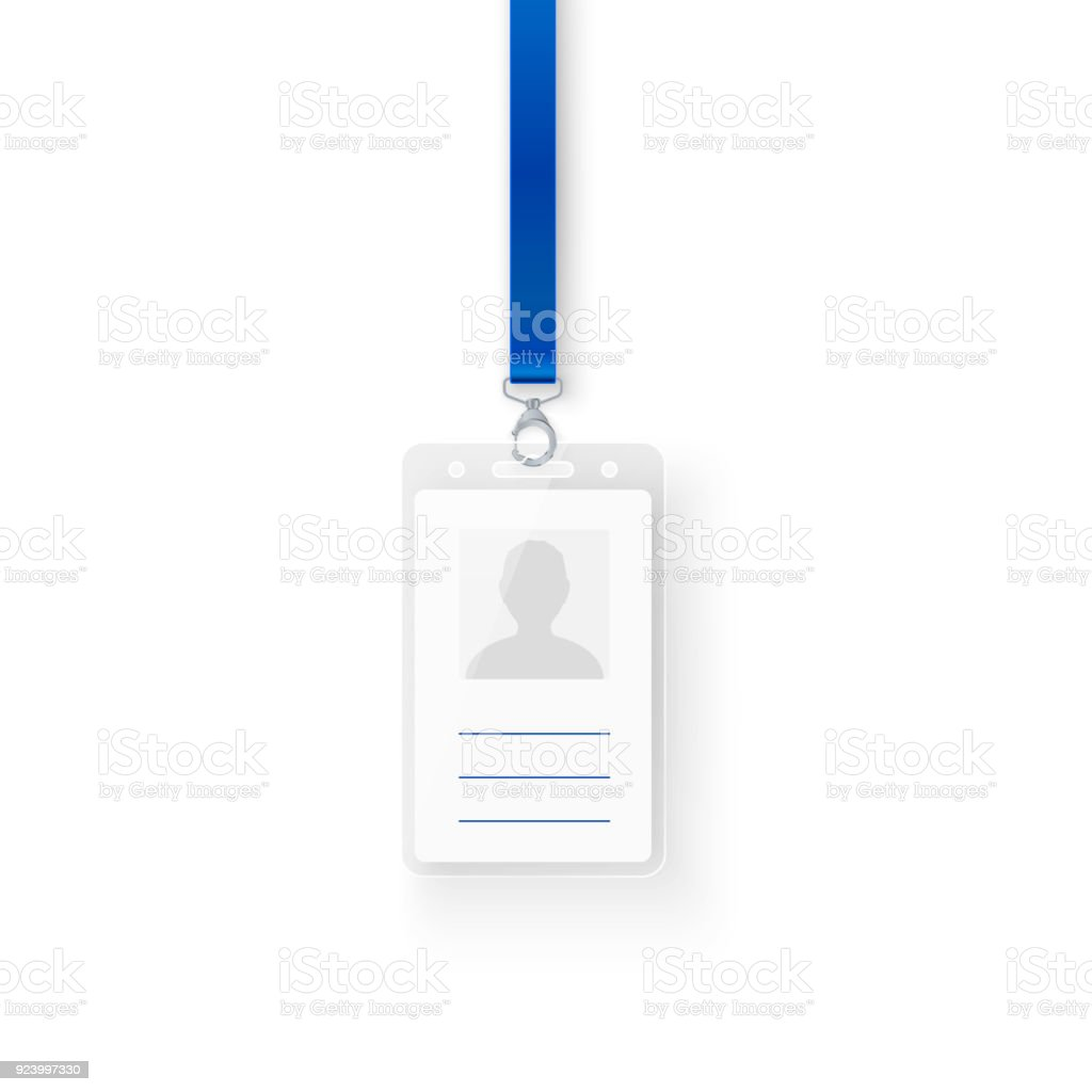 Identification Personal Plastic Id Card Empty Template Of Id Badge ...