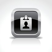 Identity Card Glossy Button Icon