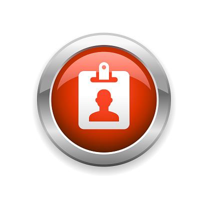 Identity Card Glossy Icon