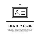 istock Identity Card Vector Line Icon - Simple Thin Line Icon, Premium Quality Design Element 1146867435
