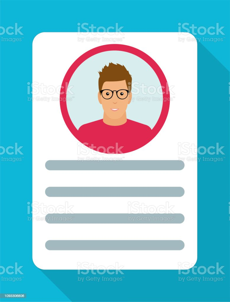 identity document with person photo and text clipart