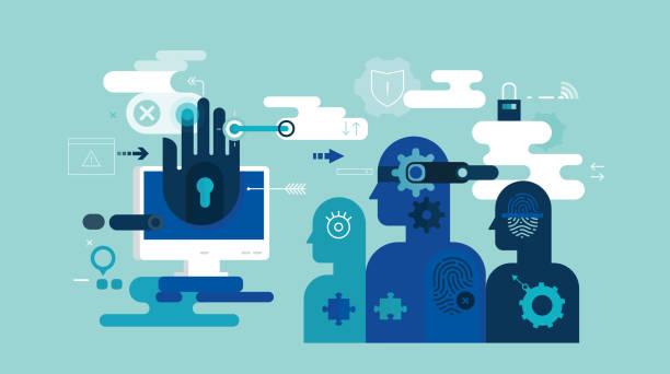 ilustraciones, imágenes clip art, dibujos animados e iconos de stock de seguridad de identidad - robo de identidad