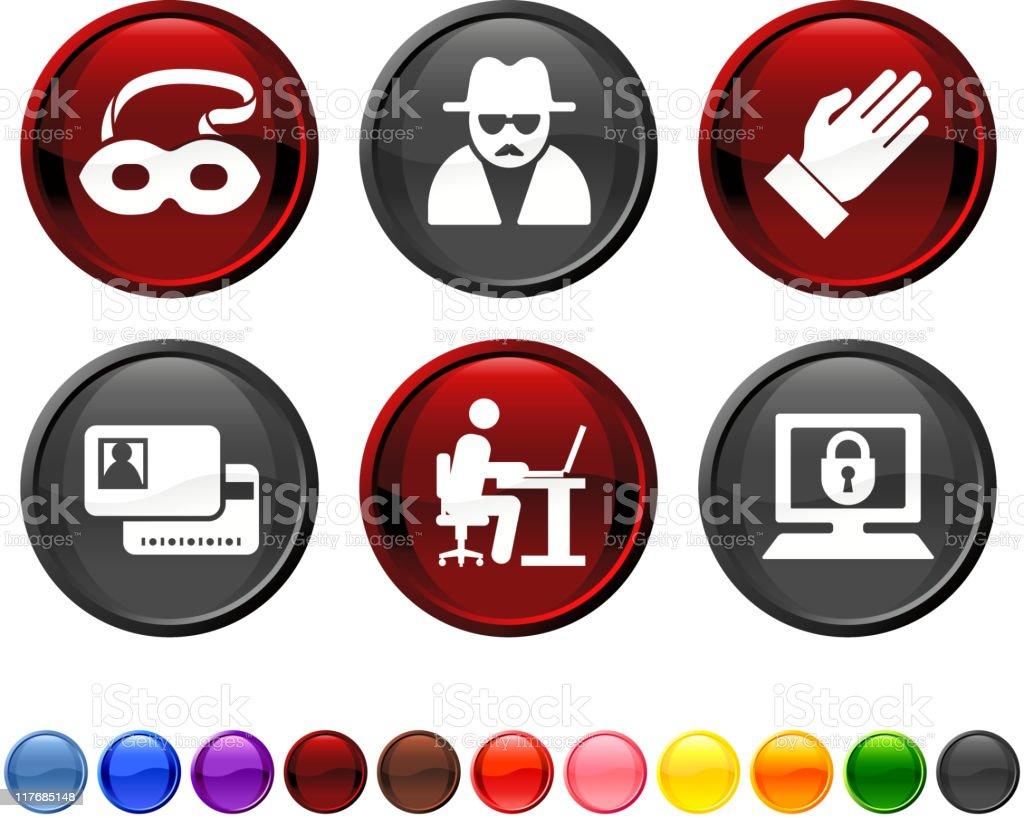 identity theft royalty free vector icon set royalty-free stock vector art