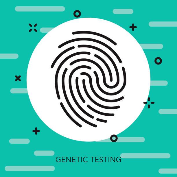 Identity Thin Line Genetic Testing Icon vector art illustration