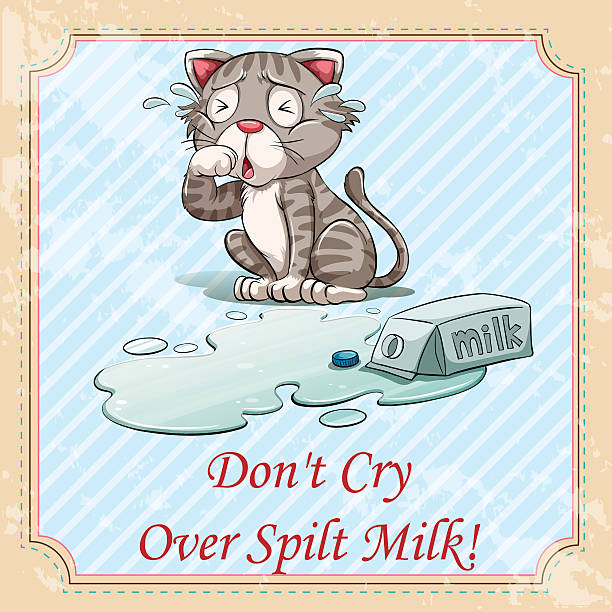 Don T Cry Over Spilt Milk Quotes: Best Spilled Milk Illustrations, Royalty-Free Vector