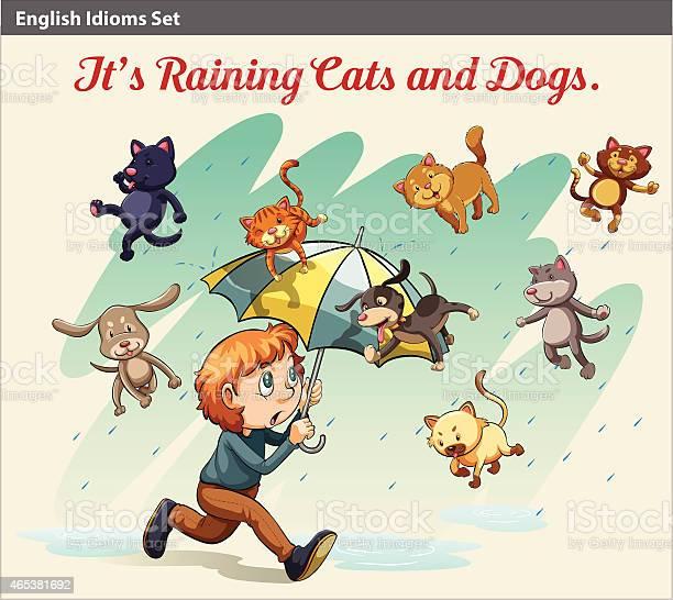 Idiom showing a rain with animals vector id465381692?b=1&k=6&m=465381692&s=612x612&h=j a5qcz8ylgzdkixmwyxleelhzmwxswj8ggsftwfn1u=