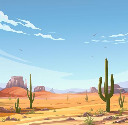 Idyllic Desert Scene