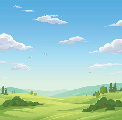 Idyllic Landscape clipart