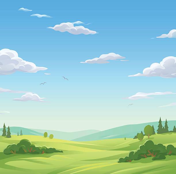 목가적인 풍경 - sky stock illustrations