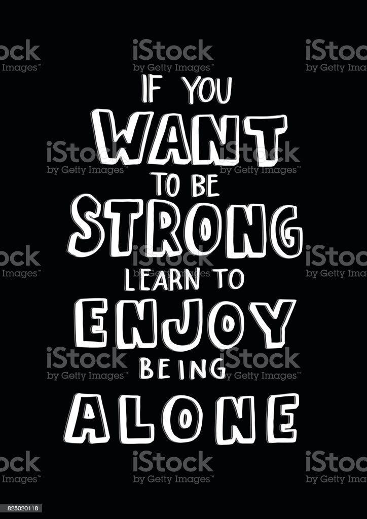 alleine sein lernen
