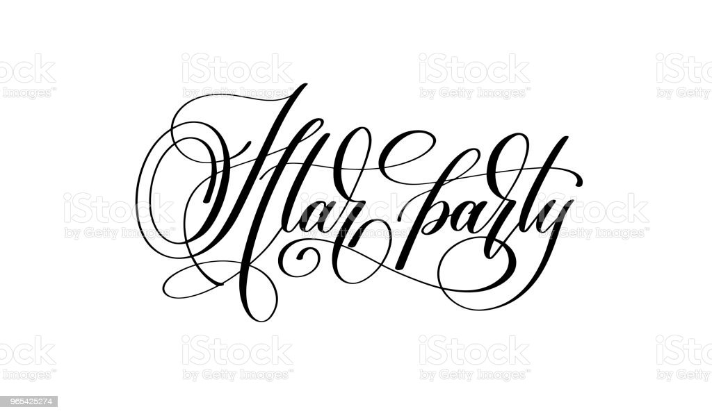 Iftar party - hand lettering calligraphy text royalty-free iftar party hand lettering calligraphy text stock vector art & more images of arabia