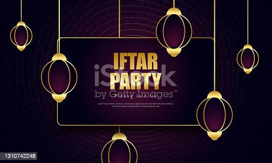 istock Iftar Party invitation stock illustration 1310742248