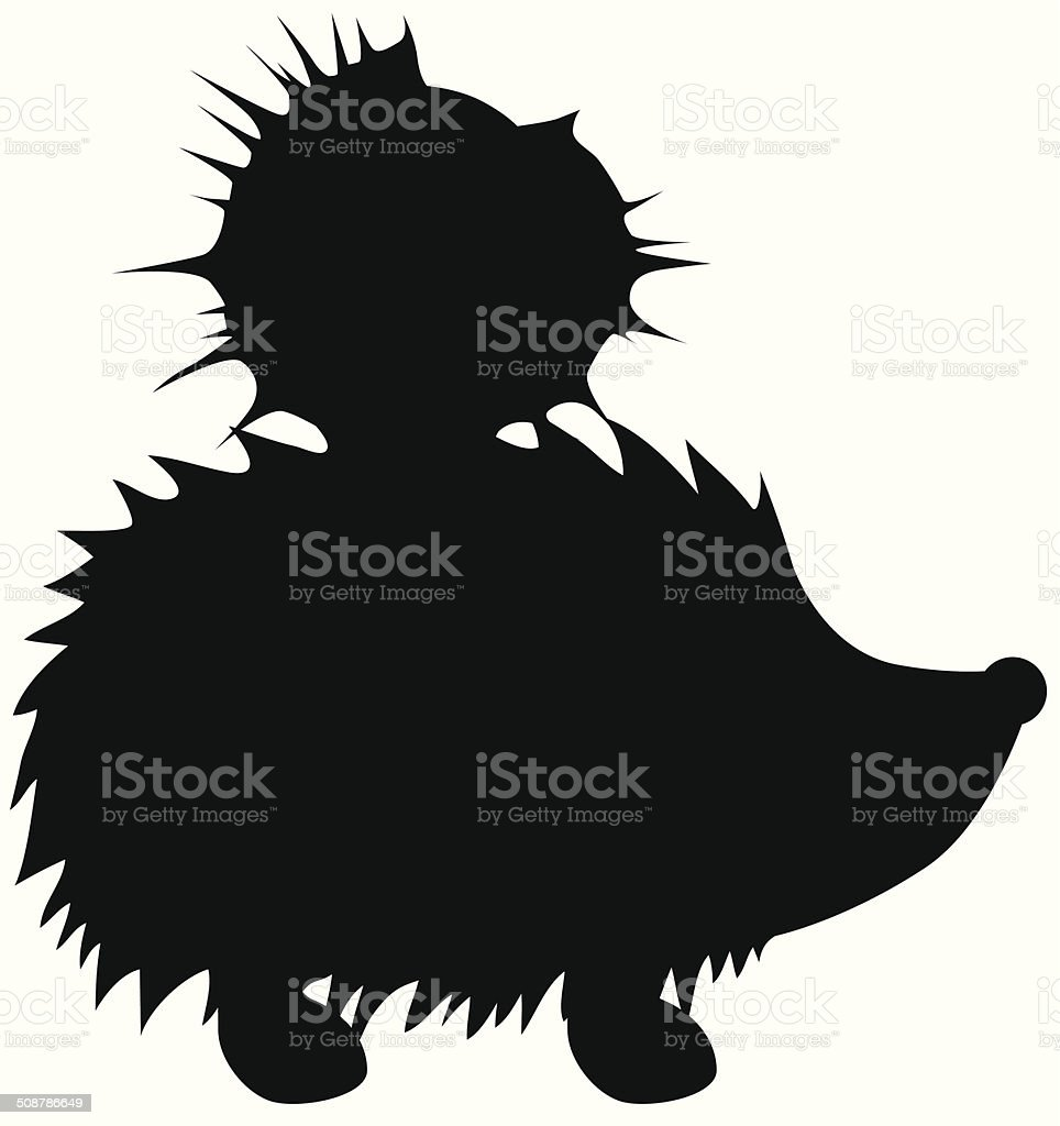 Igel mit Kastanie vector art illustration