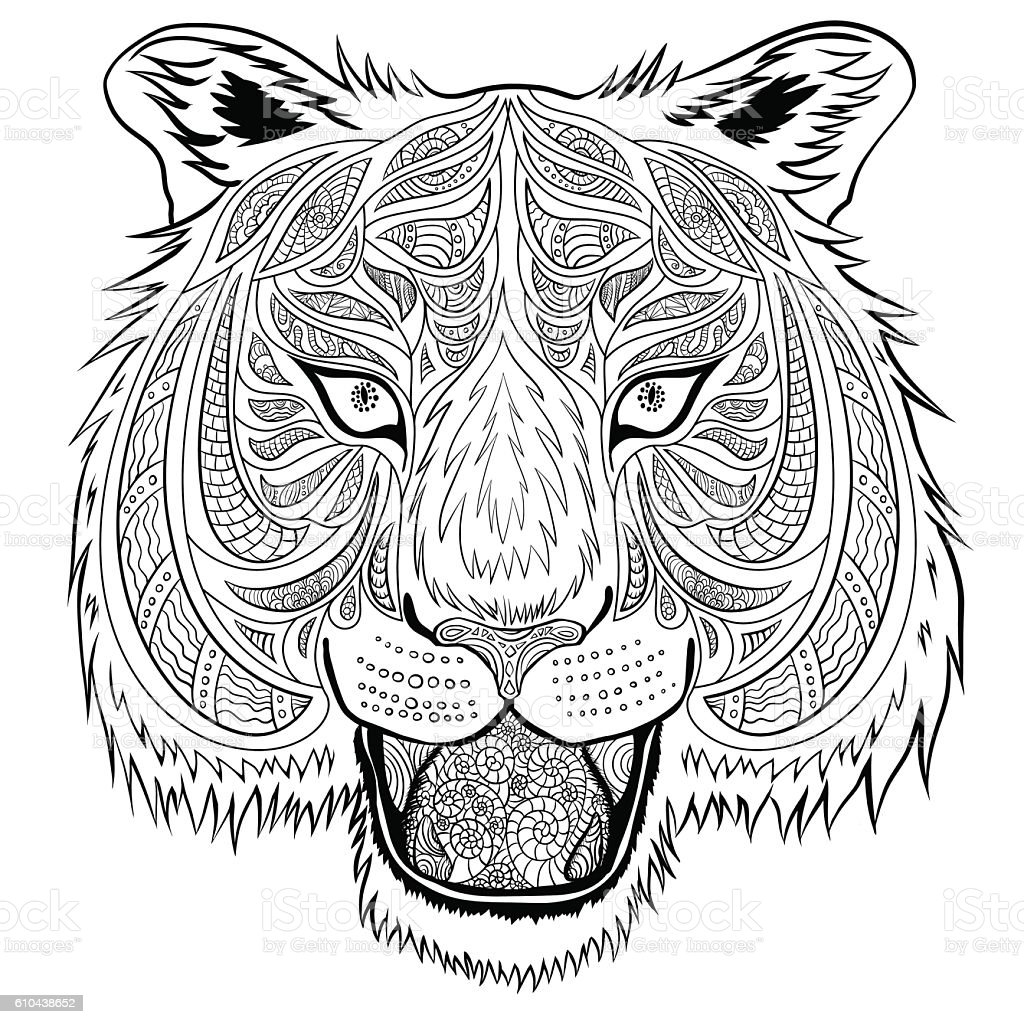 Тiger vector art illustration