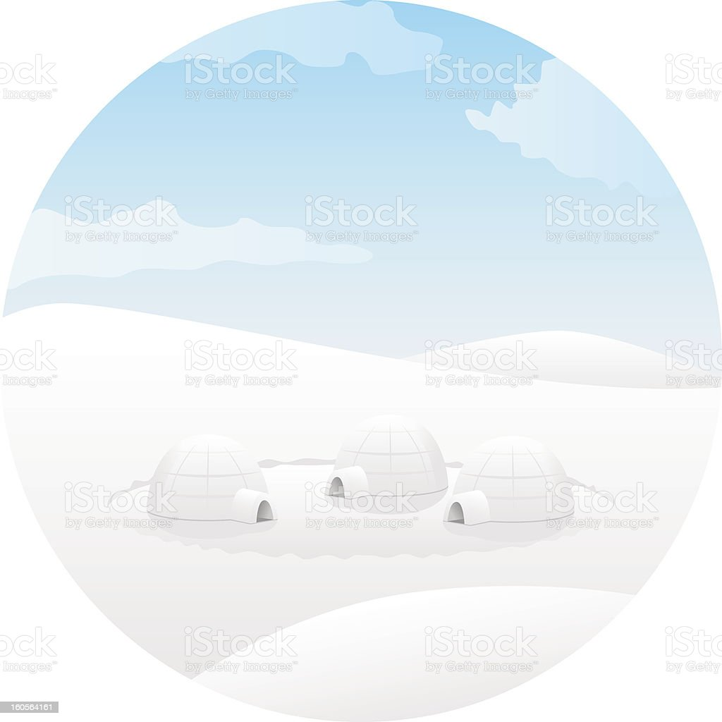 Igloo. Arctic landscape royalty-free stock vector art