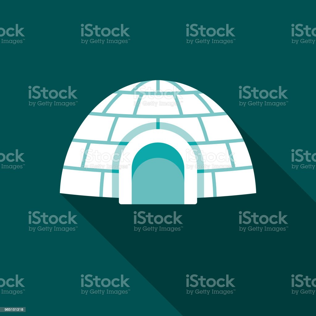 Igloo Flat Design Winter Icon with Side Shadow royalty-free igloo flat design winter icon with side shadow stock vector art & more images of arctic