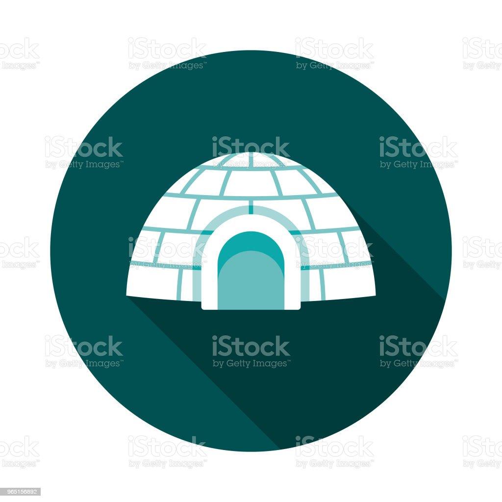 Igloo Flat Design Winter Icon with Side Shadow igloo flat design winter icon with side shadow - stockowe grafiki wektorowe i więcej obrazów arktyka royalty-free