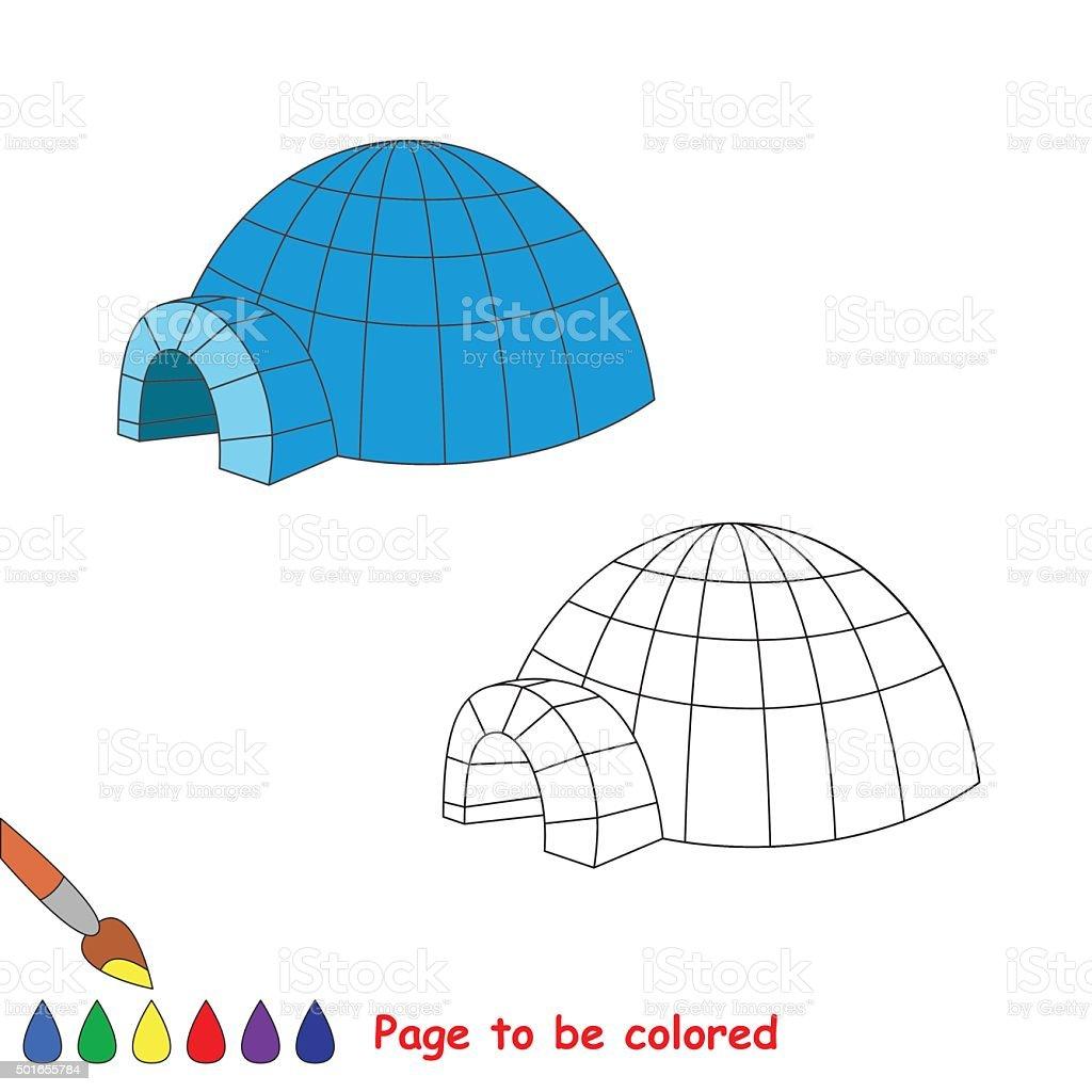 Ilustración De Iglú Vector De Dibujos Animados De Color Y Más